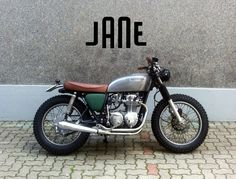 Vintage Honda CB cafe racer by Jane