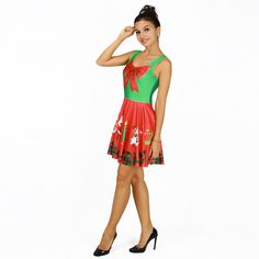 Find More Dresses Information about New Arrive Festive Dress Sleeveless Little Snowman Bow Red 3D Print Christmas New Year Pleated Skirt,High Quality print on canvas service,China printed recycled paper bags Suppliers, Cheap print screen htc desire from Riel Technology Co.,LTD on Aliexpress.com