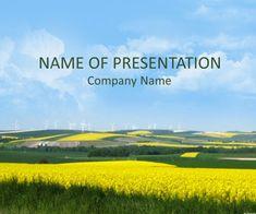 Canola Field Template PowerPoint
