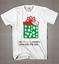 Big sister to be Christmas present personalized pregnancy announcement  Mens and Women T-Shirt Available Color Black And White