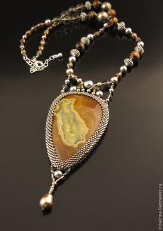 """Купить Кулон """"Золотой остров Души"""" - золотой, желтый, кулон, кулон с камнем"""