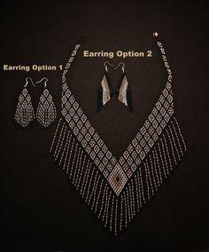 Elegante collar Tribal con pendientes por BiuluArtisanBoutique