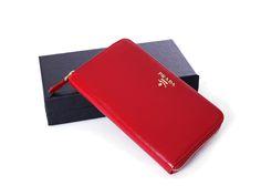 Click to enlarge Prada Purses, Prada Handbags, Long Wallet, Autumn Summer, Winter Collection, Red, Leather, Prada Bag