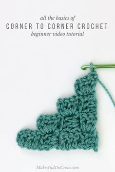 Finally learn how to c2c in this corner to corner crochet video tutorial! This very beginner-friendly tutorial will teach you how to increase and how to decrease in c2c. This stitch is so fun!