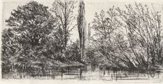 Philip Gilbert Hamerton - Near Voudenay - Original Etching - 1871 #Realism