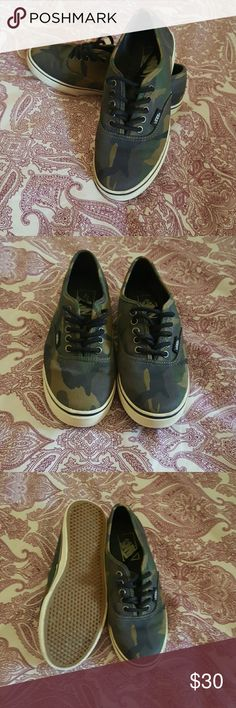 Camouflage Vans Camo vans. Worn only a couple of times. Men's size 4.5 and Womens size 6. Vans Shoes Sneakers