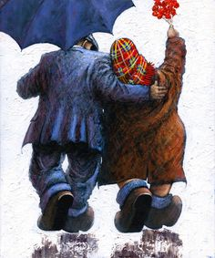 Alexander Millar -The Acorn Gallery - Beautiful and Unique Artwork Painting People, Figure Painting, Painting & Drawing, Watercolor Painting, Norman Cornish, Good Night Friends, Like Fine Wine, Old Couples, Couple Art