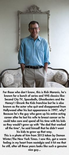 Funny pictures about Do You Remember Rick Moranis? Oh, and cool pics about Do You Remember Rick Moranis? Also, Do You Remember Rick Moranis? A Lovely Journey, Rick Moranis, Gives Me Hope, Faith In Humanity Restored, Do You Remember, Before Us, Good People, Amazing People, Beautiful People