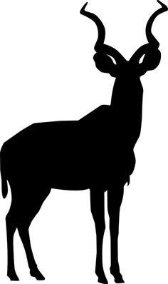 Free Image on Pixabay - Kudu, Silhouette, Tattoo, Animal Silhouette Tattoos, Silhouette Images, Animal Silhouette, African Crafts, African Art, Animal Stencil, Animal Templates, Australian Animals, African Animals