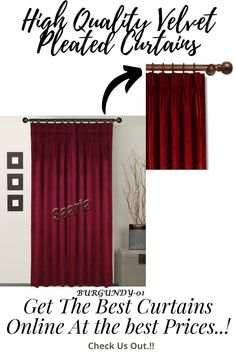 Pleated Curtains, Cool Curtains, Beautiful Curtains, Velvet Curtains, Window Curtains, Sound Proofing, Home Theater, Window Treatments, Backdrops