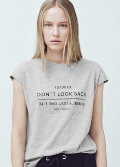 Message t-shirt   MANGO