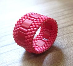 Hey, I found this really awesome Etsy listing at https://www.etsy.com/listing/193179557/peyote-stitch-band-ring-made-with-miyuki