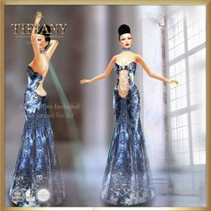 https://flic.kr/p/w7z5uA | TD Frozen Gown with Appliers | marketplace.secondlife.com/stores/139726  maps.secondlife.com/secondlife/Leenas%20Retreat/133/195/21