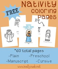 60 Total Nativity Coloring pages to help teach your kids the True Meaning of Christmas this year!!! ~ In All You Do