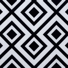 LA FIORENTINA - DOMINO  Multipurpose  White  Black  Print  Geometric  Groundworks  David Hicks:
