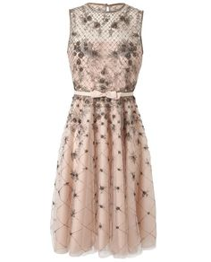 VALENTINO | Embellished Mesh and Organza Dress