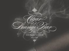 Cigar-lounge-... #typography #design #inspiration