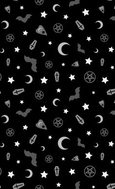 Witchy Wallpaper, Goth Wallpaper, Cute Fall Wallpaper, Halloween Wallpaper Iphone, Halloween Backgrounds, Wallpaper Backgrounds, Pattern Wallpaper, Phone Backgrounds, Black Aesthetic Wallpaper