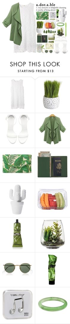 """a.dor.a.ble"" by tiaranrnd ❤ liked on Polyvore featuring moda, Pier 1 Imports, Zara, Stella & Dot, Royce Leather, Aesop, Paper Mate, Threshold, Ray-Ban e Happy Plugs"