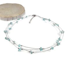 Blue apatite necklace Fashion choker by DSNatureetCreation on https://www.etsy.com/listing/400038973/blue-apatite-necklace-fashion-choker