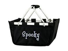 Black Mini Market Basket Monogram Tote, Monogram Gifts, Travel Tote, Black Kids, Treat Bags, Gym Bag, Totes, Tote Bag, Purses