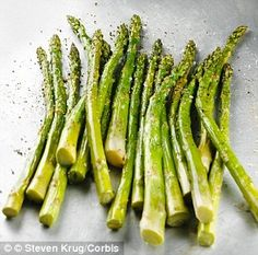 Asparagus is high in folic acid, which is well-known to be important for male and female fertility #fertility #infertility
