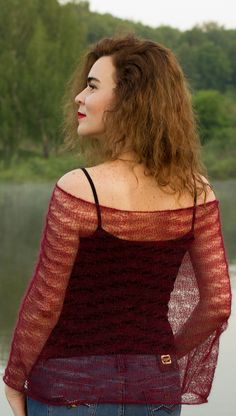 Ravelry: Lace poncho by ToBeStudio #knitting_pattern #for beginners #easy_patern #knitted_sweater_patterns #ToBeStudio #2bstudio