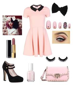 """""""Melanie Martinez"""" by reneespring ❤ liked on Polyvore featuring Kate Spade, Valentino, claire's, Chanel, Essie and Static Nails"""