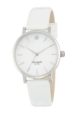 Kate spade watch silver black leather