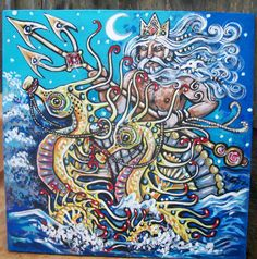 King Neptune and his Seahorses poseidon wave water by dawntarr