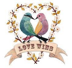 Love Wins by Geninne on Etsy