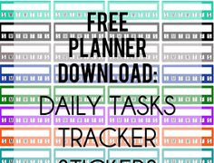 Free Planner Printable: Daily Tasks Stickers