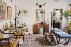 Welcome to Homestead 10 - Brass Starburst Wall Clock, Pearsall Pendleton Bench, Lane Mirror, Regency Leather Chairs, Wall Art, Triple Floor Lamp, Art Deco Desk, Ceramic Garden Stool, Bar Carts, Ottomans