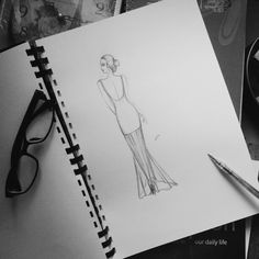 #2 fashion sketches by santira