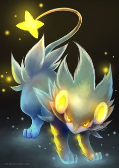 Luxray by eldrige on deviantART~ Luxray is a very important Pokémon to me. It was the first one I caught. I named it Tacker (don't ask, I named everything. My Sinnoh starter, Torterra, is named Quintie. I don't even know where I got these names...).