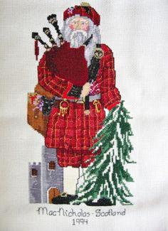 MacNicholas - Scottish Santa.  Completed in 1994