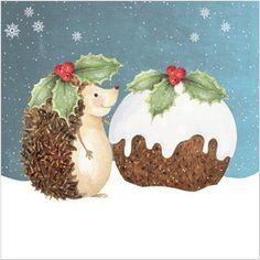 Hedgehog ❤️️ Christmas Card, hedgehogs