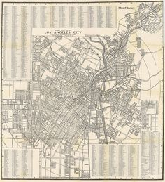 Street Guide Map of Los Angeles City, 1902