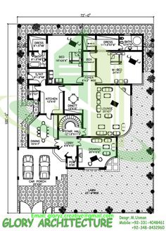 House Plan Drawing 40x80 Islamabad | design project | Pinterest ...