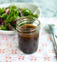 Balsamic Vinaigrette (shown), 18 varied salad dressings to choose from Vinaigrette Dressing, Salad Dressing Recipes, Salad Recipes, Salad Dressings, Balsamic Vinegarette, Balsamic Vinaigrette Recipe, Homemade Dressing Recipe, Soup And Salad, Food To Make