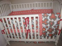 Lotus Flower Baby Bedding Set by Babydreamin on Etsy