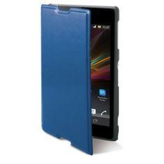 Étui Folio bleu pour Xperia Z1 compact