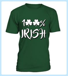 St Patricks Day TShirt with 100 Irish (*Partner Link)