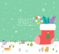 에프지아이, 배경, 백그라운드, 벡터, 겨울배경, 겨울, 크리스마스, 성탄절, 나무, 오브젝트, 양말, 장식, SILL149 #유토이미지 #프리진 #utoimage #freegine 19485500