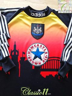 Official Adidas Newcastle United GK football shirt from the season. David Ginola, Newcastle United Football, Alan Shearer, Sunset Silhouette, Goalkeeper, Football Jerseys, Adidas, Seasons