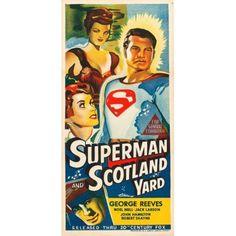 Superman In Scotland Yard Canvas Art - (11 x 17)