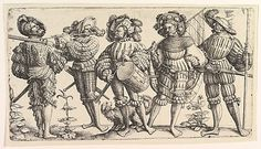 16th cent. Daniel Hopfer - Five German Soldiers  The Met