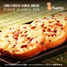 CHILI CHEESE GARLIC BREAD Crunch in every bite #MrToasties