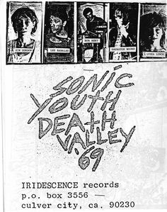 Sonic Youth and Lydia Lunch Rock Posters, Concert Posters, Unicorn Art, Of Mice And Men, Music Covers, Post Punk, World Music, Death Valley, Pop Rocks