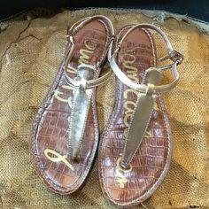 Sam Edelman Gold Sandals size 9 Cute!!! Sam Edelman gold sandals, size 9 Sam Edelman Shoes Sandals